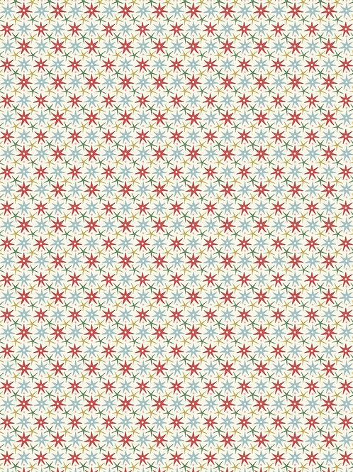 Wish cream and Red- Liberty Fabrics