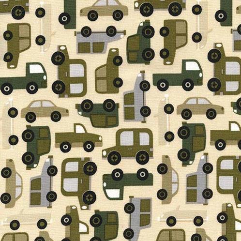 Traffic Jam Cream- Michael Miller Fabrics