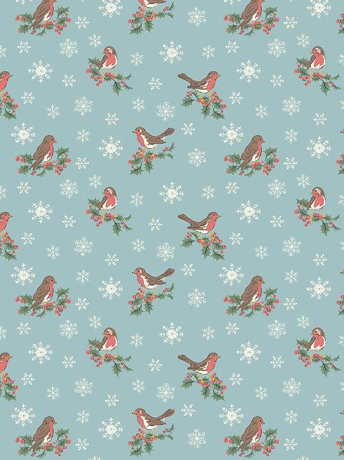 Jolly Robin Blue- Liberty Fabrics
