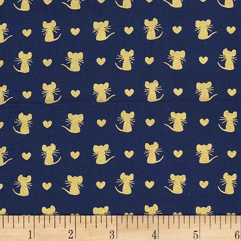 Nice Mice Navy- Michael Miller Fabrics