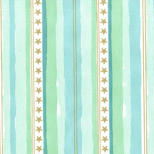 Stars and Stripes Aqua, Sarah Jane - Michael Miller