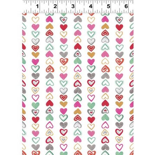 Vintage Valentine- Clothworks Organic Fabric