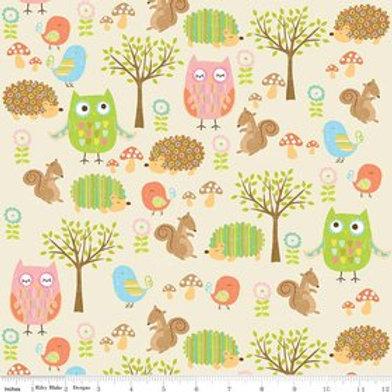 Owl Friends Cream - Owl and Co Riley Blake