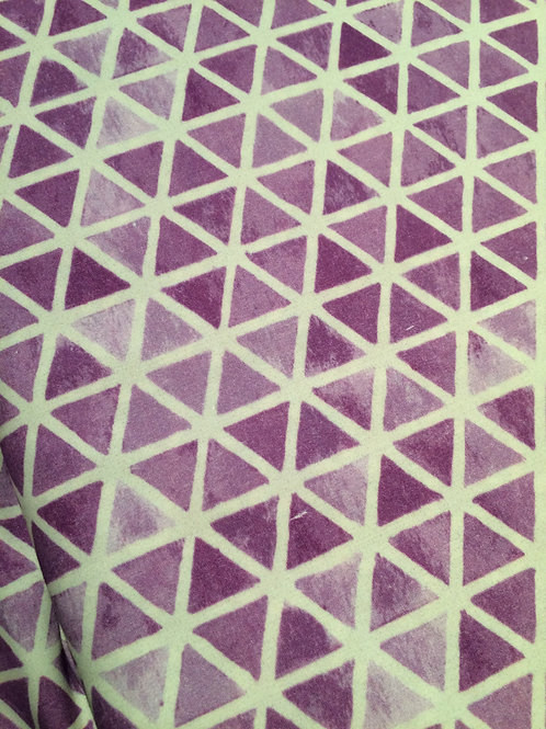 Luna Dig Purple Triangles - Sew Simple Fabrics