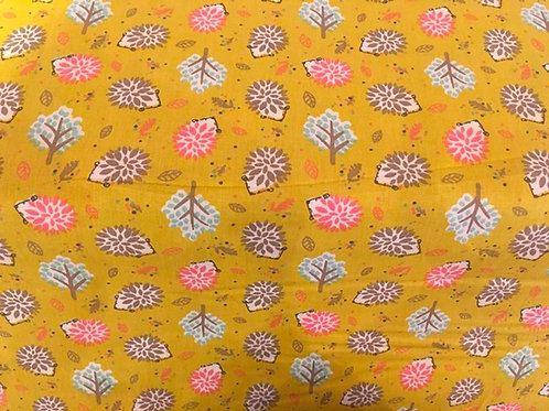Lillie Mustard Hedgehog- Sew Simple Fabrics
