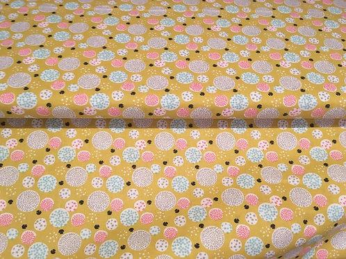 Lillie Mustard Spots- Sew Simple Fabrics