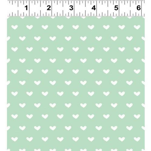 Vintage Valentine Mint - Clothworks Organic Fabric
