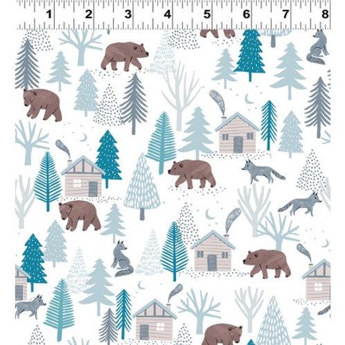 Dreaming of Snow Woodland - Clothwork Fabrics