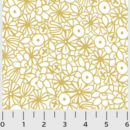 Urban Scandinavian, Mustard Floral- P&B Fabrics