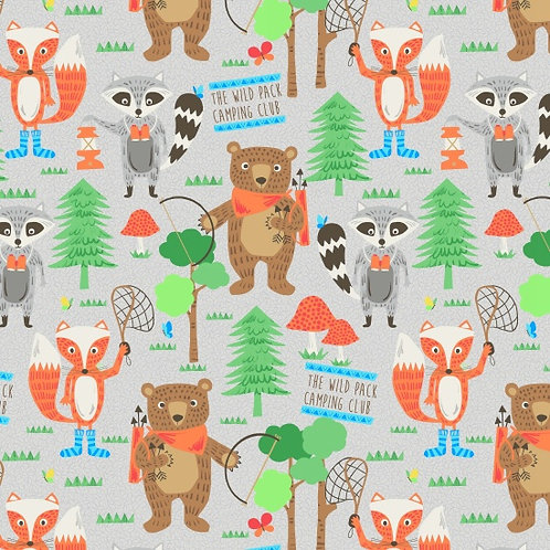Camping Club, The wild pack- Blank Quilting Fabrics