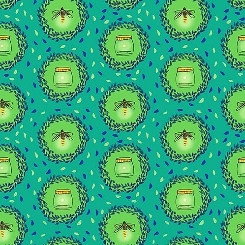 Glow Friends on Flannel, Wee Wander- Michael Miller Fabrics
