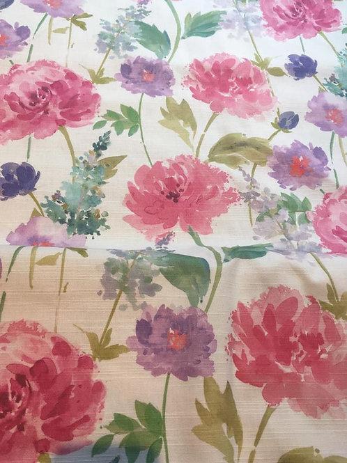 Peony Digital Fushia- Upholstery Fabric