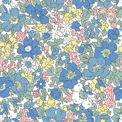 Cosmos Blooms, Spring Flowers- Liberty Fabrics