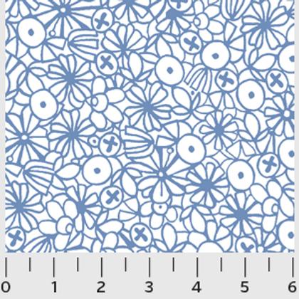 Urban Scandinavian, White Floral- P&B Fabrics