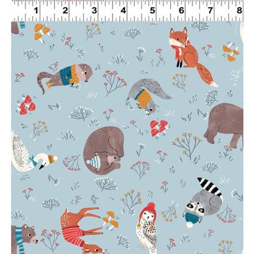 Dreaming of Snow Animals- Clothwork Fabrics