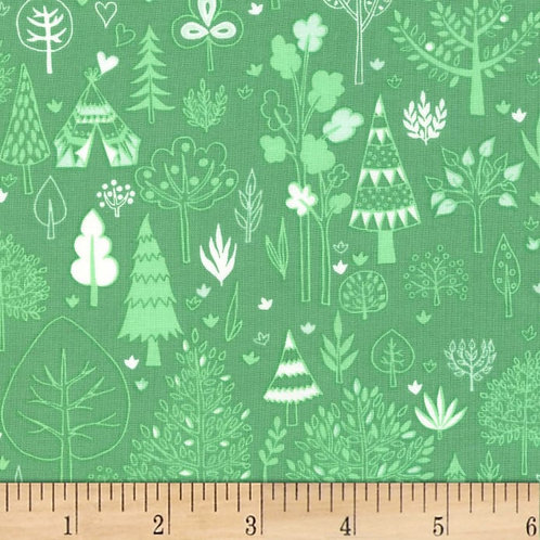 Say Yes to New Adventures, Grass- Michael Miller Fabrics