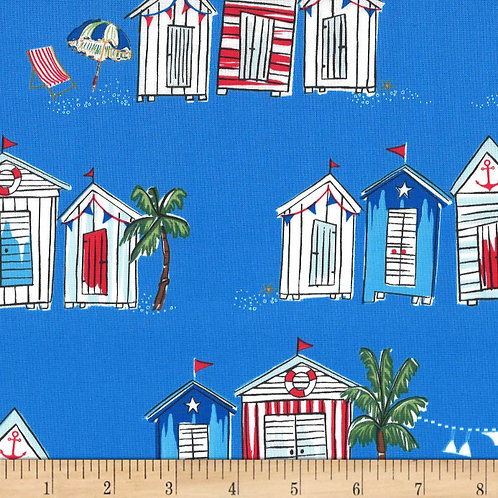 Seas the Day Mid Blue- Michael Miller Fabrics