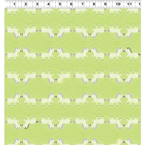 Safari Sweet 2, Zebra - Clothworks Organic Fabric