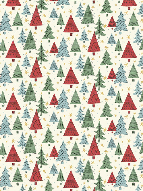Noel Forest Red and Cream- Liberty Fabrics