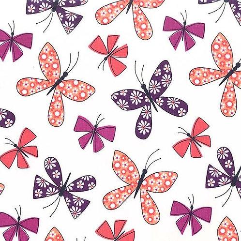 Chasing Butterflies Berry- Michael Miller Fabrics