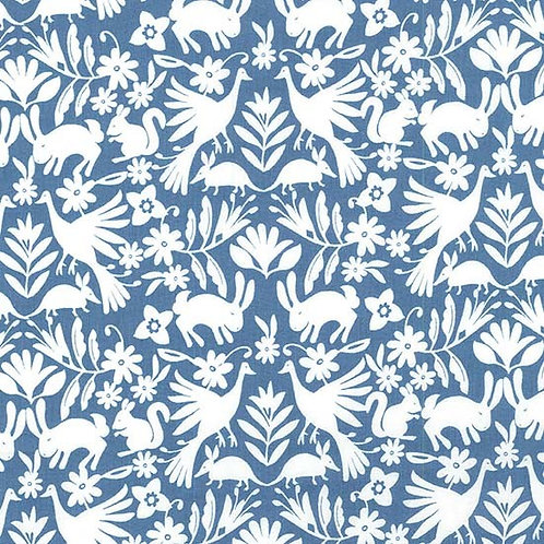 It's a Wildlife Blue- Michael Miller Fabrics