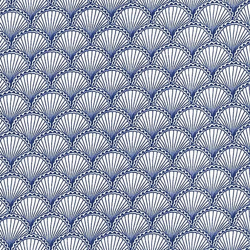 Scallops Navy - Michael Miller Fabrics