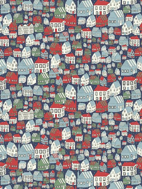Yule Town Navy- Liberty Fabrics