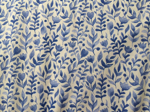 Luna Dig Blue Fauna - Sew Simple Fabrics