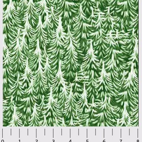 P&B Fabrics- Christmas Village Green Trees