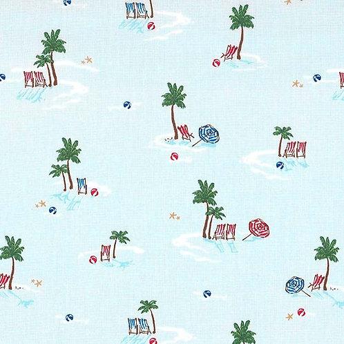 Life's a Beach Blue- Michael Miller Fabrics