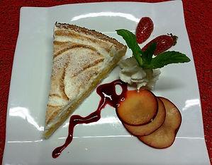 tarte dessert verdun bourgogne restaurant doubs saone confluent