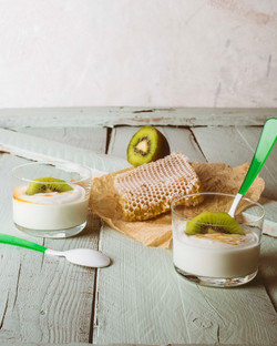 Yogurt food photography