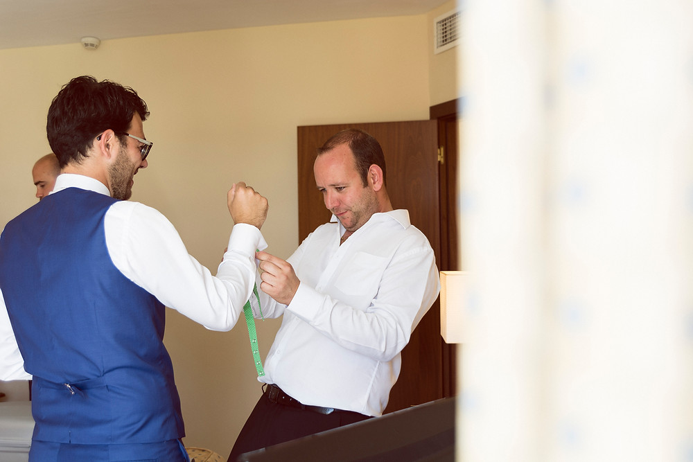 the groom of an international wedding in malaga