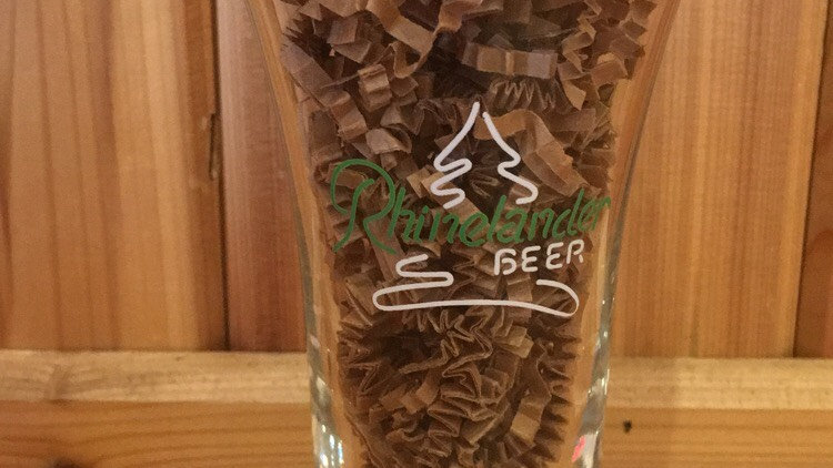 Rhinelander Tulip Pint Beer glass