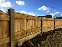 Concrete Posts on Cornish Hedge