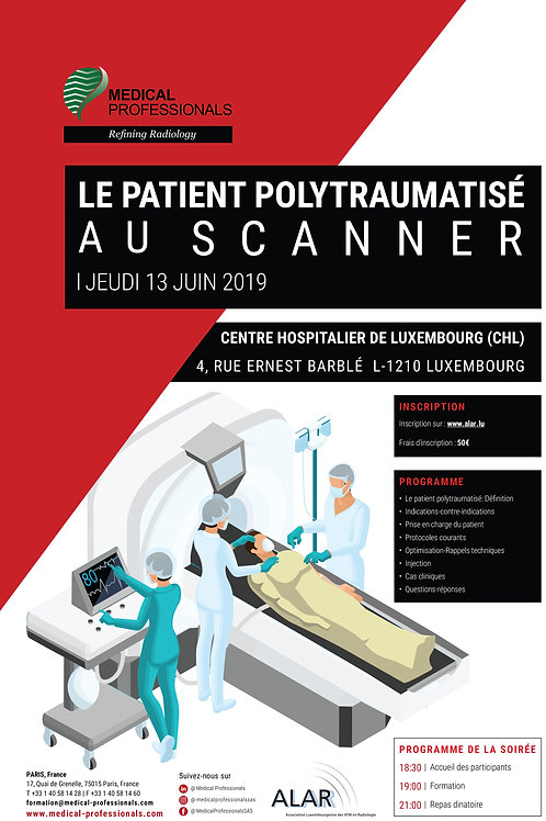 Inscription Formation: Le Patient polytraumatisé au Scanner