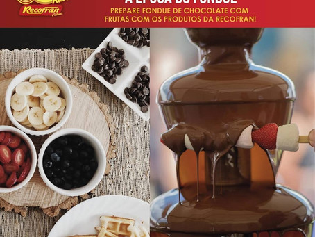 Hum....chocolate +  frutas = combinação perfeita