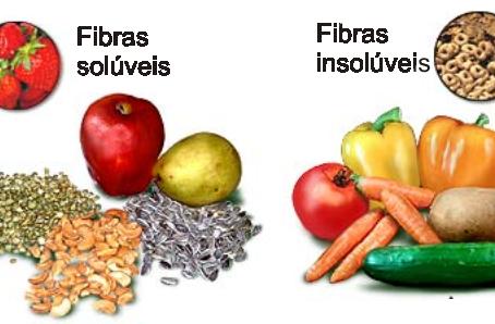 O que são fibras solúveis e insolúveis?