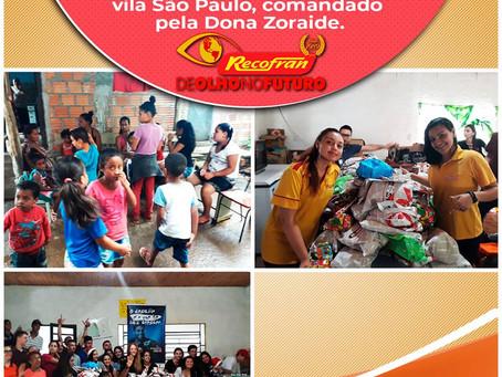 Ação social de Natal promovida pela Recofran em parceria com o Ciee.