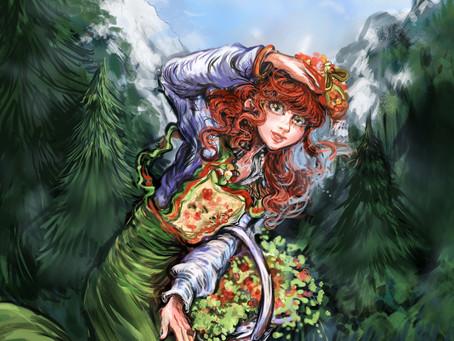 Art WIP - Rebirth: Flower Girl