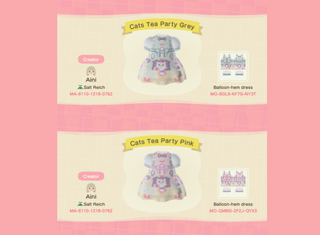 Animal Crossing Design: Lolita - Angelic Pretty Cat's Tea Party