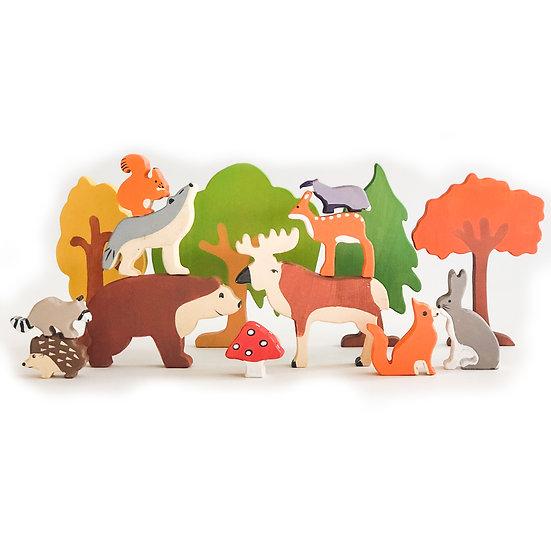 Hand Made Waldorf Forest Animals