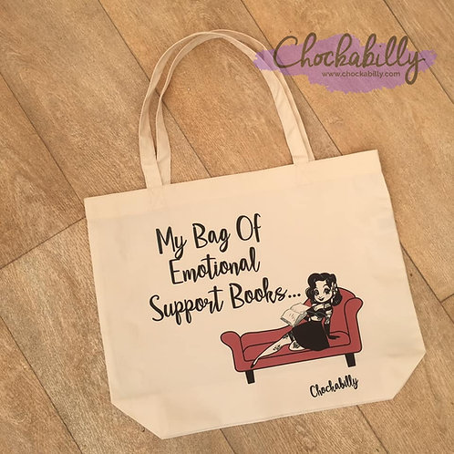 'Emotional Support Books' Tote Bag