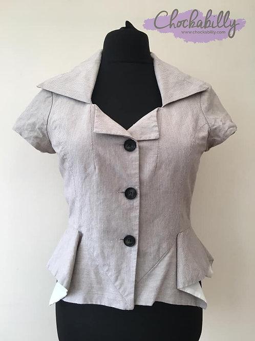 Grey Peplum Jacket