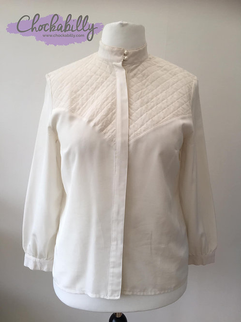 Cream Quilted Blouse