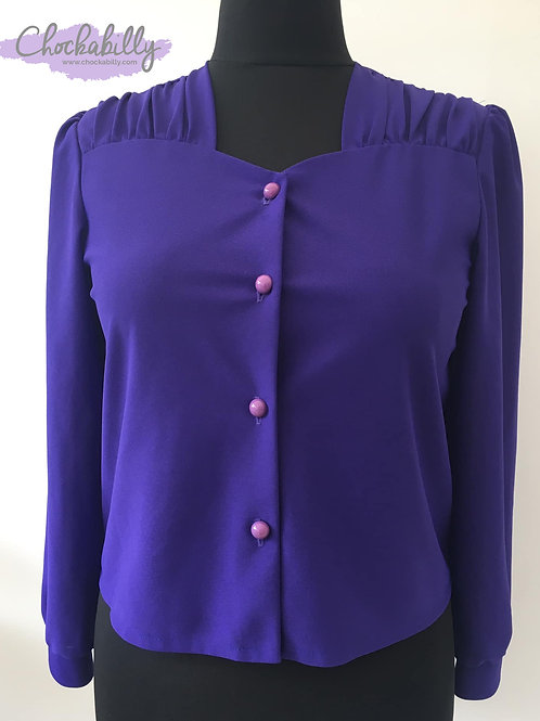 Purple Long Sleeve Blouse