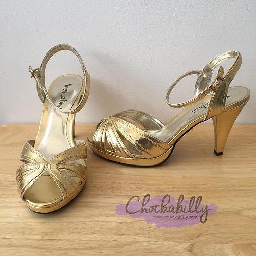 Viva La Diva Gold Heels