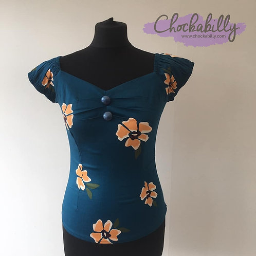 Collectif 'Apricot Floral' Dolores Top