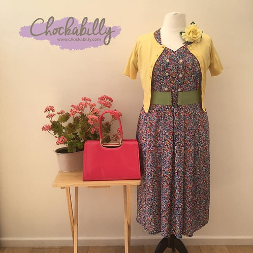 Bright Floral 40s Style Dress
