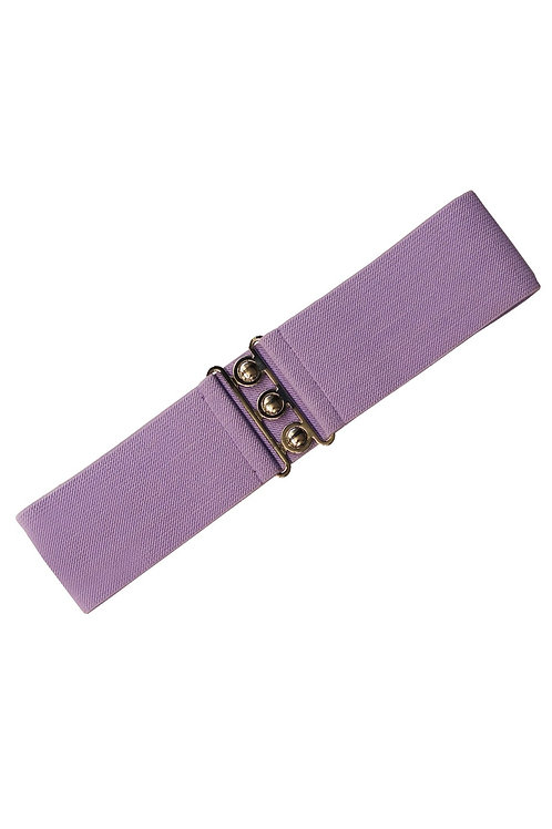 Hell Bunny Lavender Stretch Belt